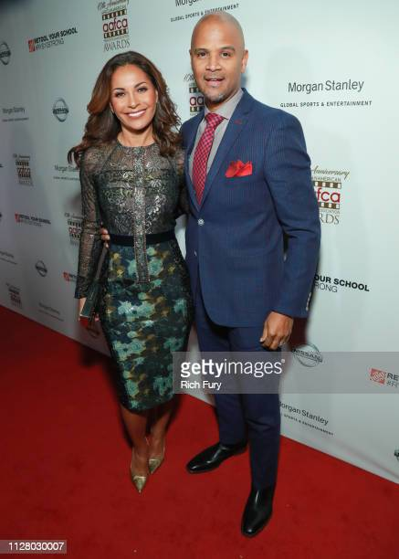 Salli RichardsonWhitfield and Dondre Whitfield attend the 10th Annual AAFCA Awards at Taglyan Complex on February 06 2019 in Los Angeles California