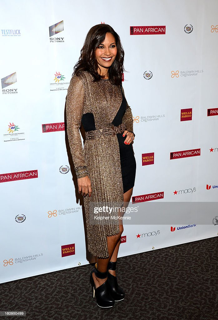 Salli Richardson-Whitfield attends 21st Annual Pan African Film Festival Opening Night Gala premiere of Vipaka at DGA Theater on February 7, 2013 in Los Angeles, California.