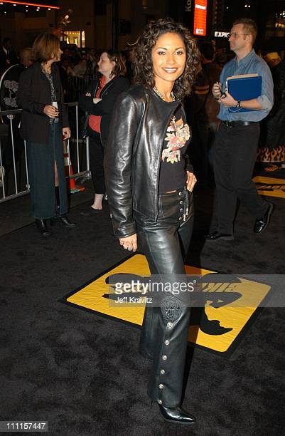 Salli RichardsonWhitfield during Dreamworks Pictures Biker Boyz at Manns Chinese Theater in Hollywood CA United States