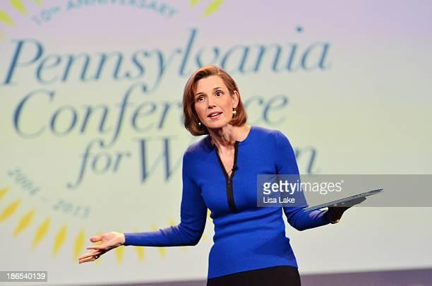 Sallie Krawcheck speaks onstage at the Pennsylvania Conference For Women 2013 at Philadelphia Convention Center on November 1 2013 in Philadelphia...