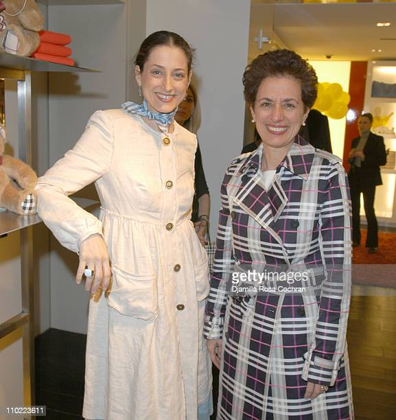 Sally Albemarle and Rosemary Bravo during Bella Cuomo and Augustus Albemarle's Birthday Party March 17 2005 at Burberry in New York City New York...