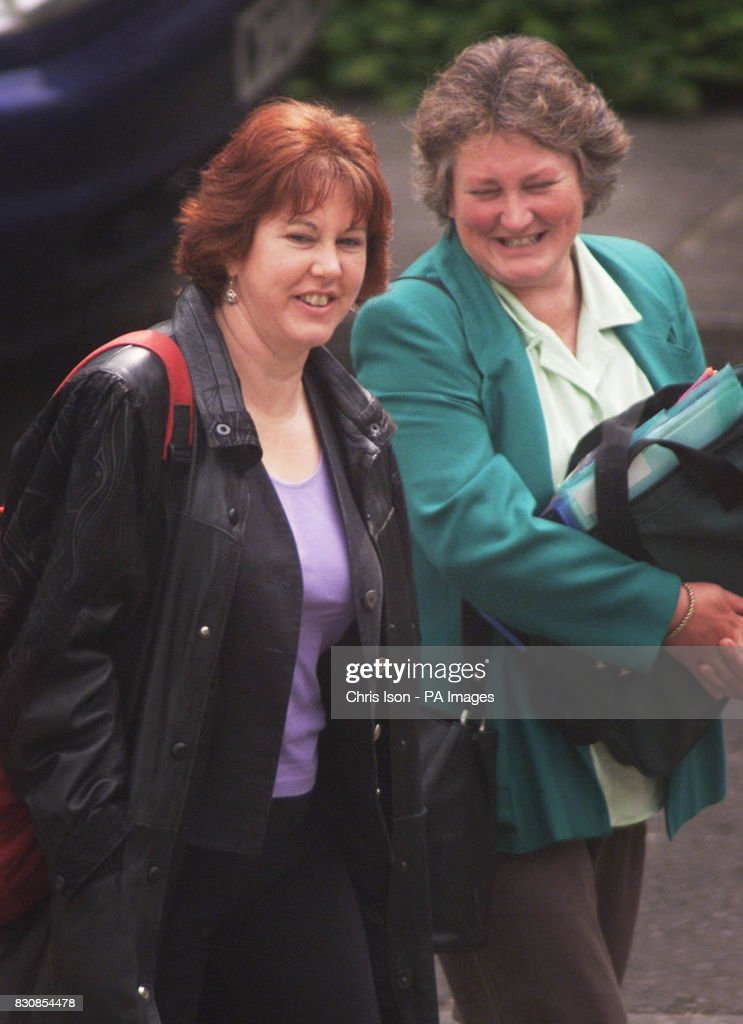 Sally and Shirley Crofts arrive at Winchester Crown Court to see the