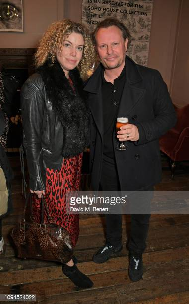 Sally Ann Stuke and Neil Stuke attend a private screening of Rain Stops Play a new short film directed by Mika Simmons in support of Lady Garden on...