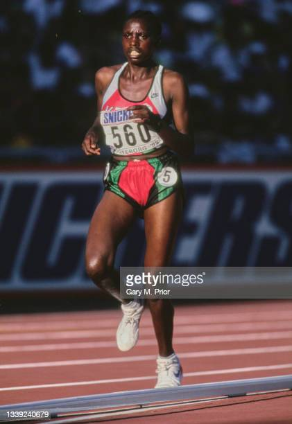 Sally Barsosio of Kenya running in the Women's 5000 metres event at the 5th International Association of Athletics Federations IAAF World...