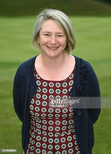 Sally Baxter of Witney Lakes Golf Club poses for photos during the WPGA Lombard Trophy National ProAm South Regional Qualifier at Camberley Heath...