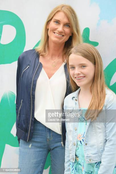 Sally Bercow and daughter attend the press performance of Peter Pan at the Troubadour White City Theatre on July 27 2019 in London England
