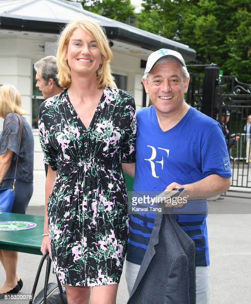 Sally Bercow and Speaker of the House of Commons John Bercow attend day 13 of Wimbledon 2017 on July 16 2017 in London England