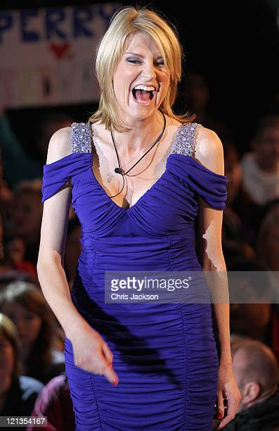 Sally Bercow arrives as a guest in the Big Brother House at Elstree Studios on August 18 2011 in Borehamwood England