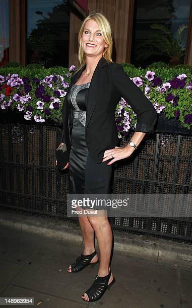 Sally Bercow attends as the new Kensington nightclub celebrates its launch at The Kensington Club on July 20 2012 in London England