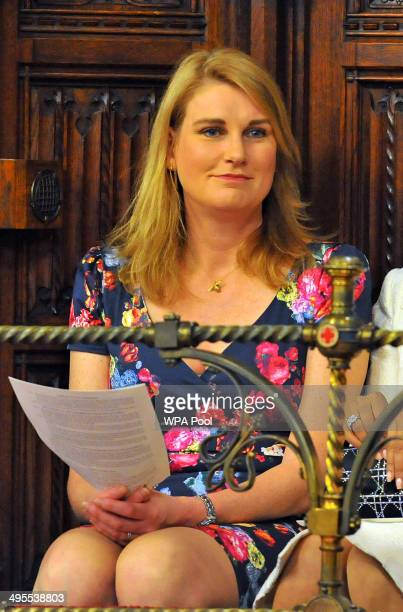 Sally Bercow attends the State Opening of Parliament in the House of Lords at the Palace of Westminster on June 4 2014 in London England Queen...