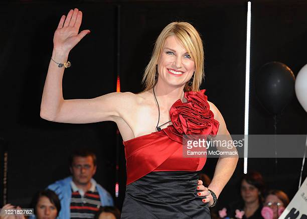 Sally Bercow is evicted from the Celebrity Big Brother house at Elstree Studios on August 26 2011 in Borehamwood England