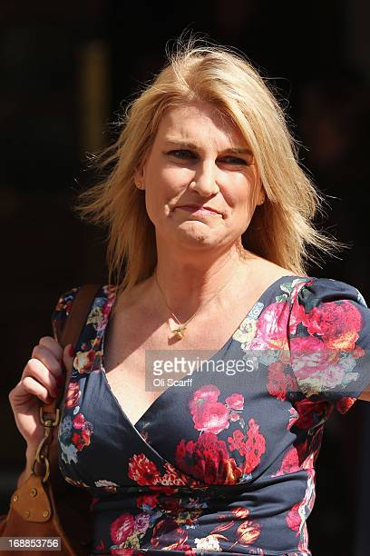 Sally Bercow wife of John Bercow the Speaker of the House of Commons arrives at the Royal Courts of Justice on May 16 2013 in London England Mrs...