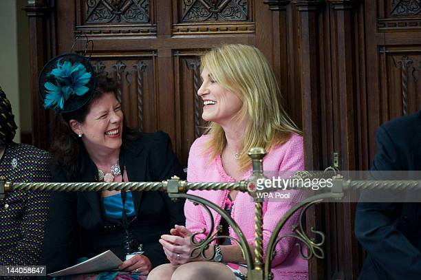 Sally Bercow wife of Speaker of the House of Commons John Bercow attends the House of Lords during the State Opening of Parliament on May 9 2012 in...