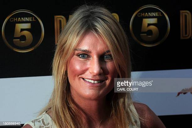 Sally Bercow wife of the Speaker of Britain's House of Commons arrives on the red carpet to attend the launch of the new 10part series of US...