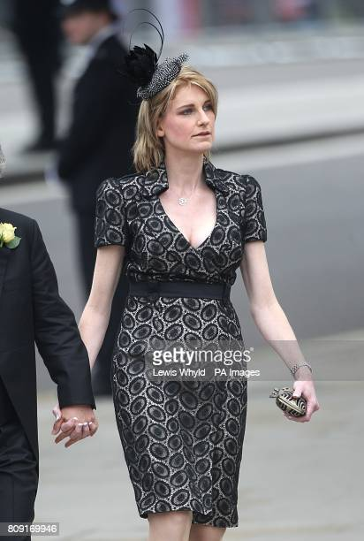 Sally Bercow wife of the Speaker of the House of Commons John Bercow arrives at Westminster Abbey ahead of the wedding between Prince William and...