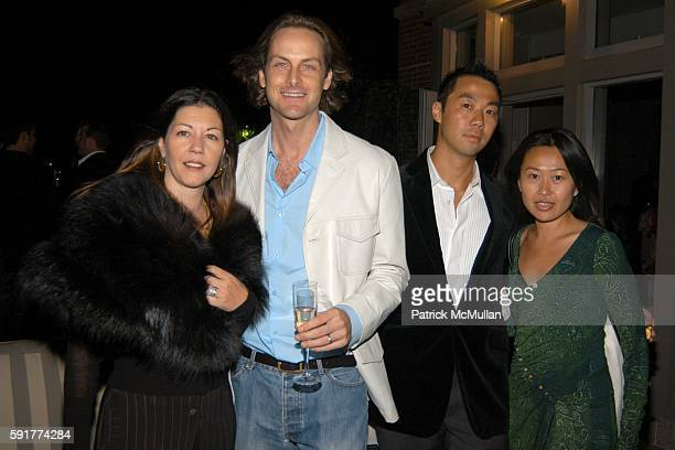 Sally Brunger Andrew Brunger Shaokao Cheng and Nikki Cheng attend Champagne Perrier Jouet Launch of the 1998 Fleur de Champagne at Soho Grand...
