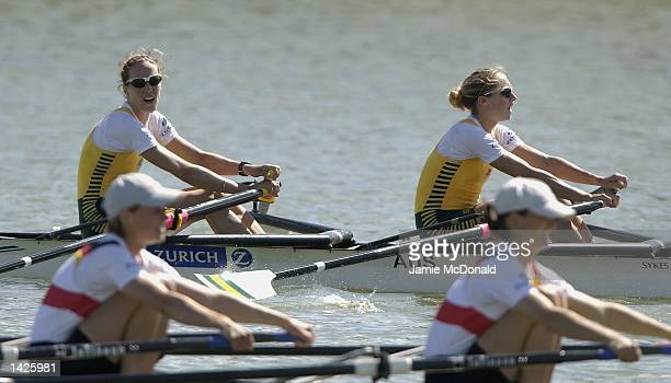 Sally Causby and Amber Halliday of Australia win Gold in the Lightweight Double Sculls during the FISA Rowing World Championships in Seville Spain on...