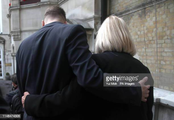 Sally Challen, with her son David, leaves the Old Bailey after hearing she will not face a retrial over the death of her husband Richard Challen in...