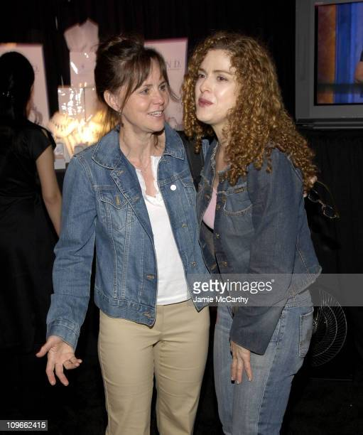 Sally Field and Bernadette Peters during 59th Annual Tony Awards On 3 Productions Gift Suite at Radio City Music Hall in New York City New York...