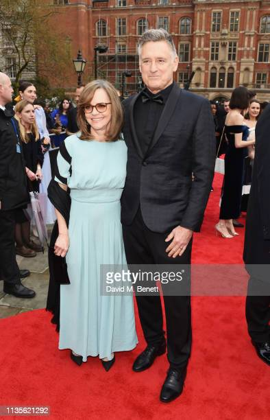 Sally Field and Bill Pullman attend The Olivier Awards 2019 with Mastercard at The Royal Albert Hall on April 7 2019 in London England