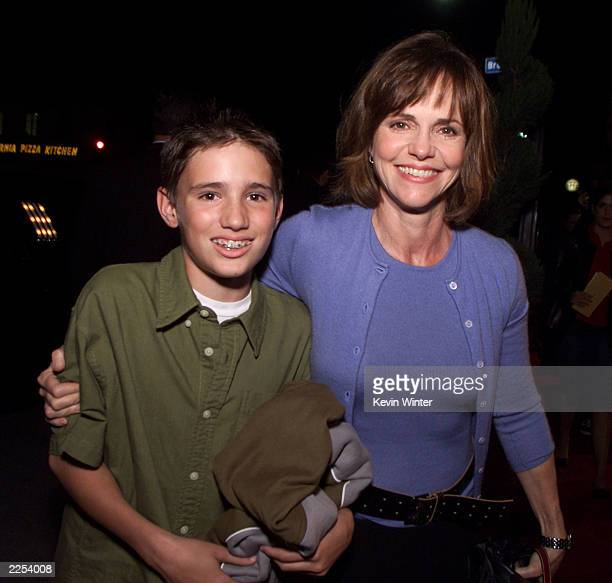 Sally Field and her son Sam at the premiere of Harry Potter and the Sorcerer's Stone in Los Angeles Ca Wednesday November 14 2001 Photo by Kevin...