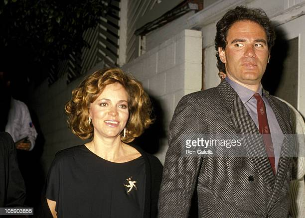 Sally Field and Husband Alan Greisman during New Years Eve Party at Spago's in West Hollywood December 31 1985 at Spago's in West Hollywood...