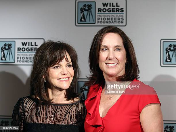 """Sally Field and Kathleen Kennedy arrive at CinemaCon 2013 """"Pioneer of the Year"""" Awards honoring Kathleen Kennedy held at Caesars Palace on April 17,..."""