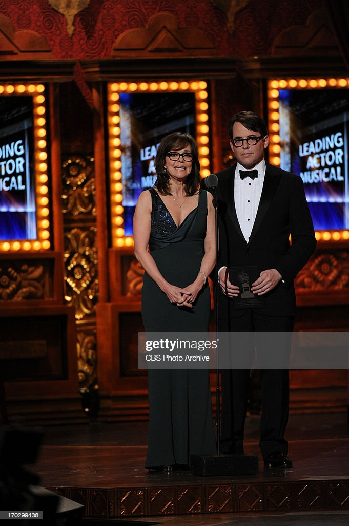 Sally Field and Matthew Broderick during THE 67TH ANNUAL TONY AWARDS broadcast live from Radio City Music Hall in New York City, Sunday, June 9 (8:00-11:00 PM, live ET/delayed PT) on the CBS Television Network.