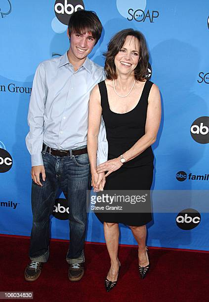 Sally Field and son during ABC All Star Party 2006 Arrivals at Rose Bowl in Pasadena California United States