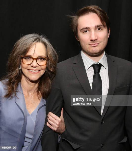 Sally Field and son Samuel Greisman attend The Actors Fund Annual Gala at the Marriott Marquis on 5/8//2017 in New York City