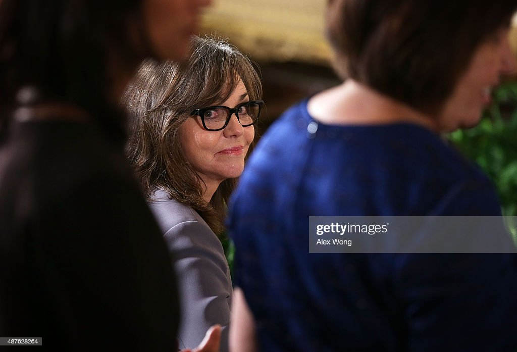 Sally Field attends an East Room ceremony for 2014 National Medal of Arts at the White House September 10, 2015 in Washington, DC. Sally Field was honored for her contributions as an actress and filmmaker.