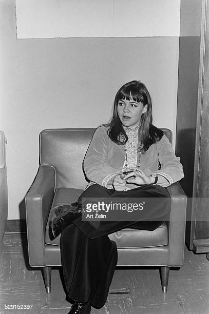Sally Field backstage at Columbia Pictures LA for Gidget circa 1970 California