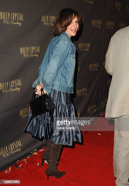 """Sally Field during Los Angeles Opening Night of The Tony Award Winning Broadway Show Billy Crystal """"700 Sundays"""" at Wilshire Theatre in Beverly..."""