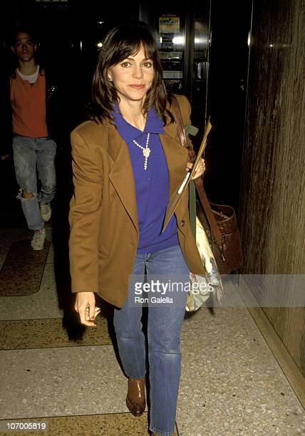 """Sally Field during Sally Field at """"Larry King Live"""" - January 9, 1991 at CNN Studios in Hollywood, California, United States."""