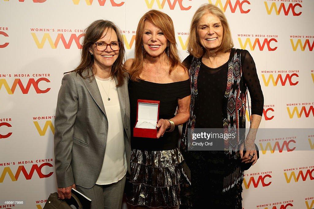 Sally Field, Marlo Thomas and Gloria Steinem attend The Women's Media Center 2015 Women's Media Awards on November 5, 2015 in New York City.