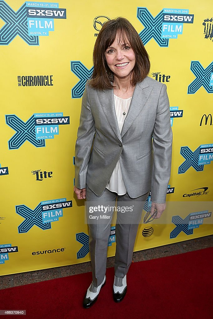 Sally Field poses on the red carpet for a screening of 'Hello, My Name Is Doris' at the Paramount Theater during the South by Southwest Film Festival on March 14, 2015 in Austin, Texas.