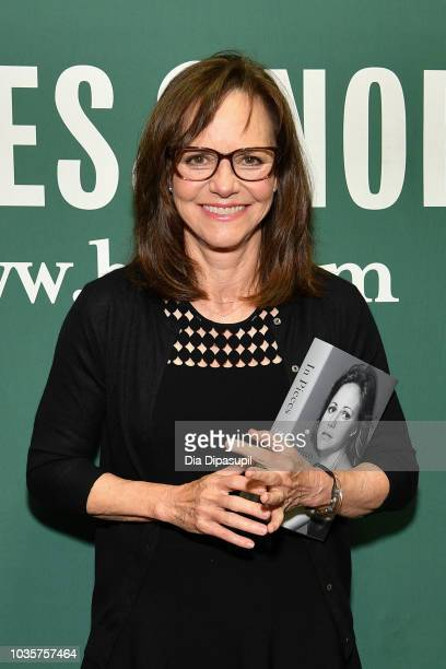 A view of Sally Field's book 'In Pieces' at Barnes Noble Union Square on September 18 2018 in New York City