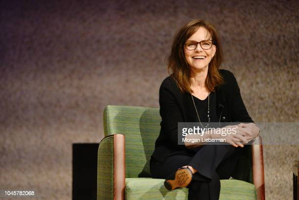 Sally Field speaks about her book In Pieces at Pasadena Presbyterian Church on September 27 2018 in Pasadena California