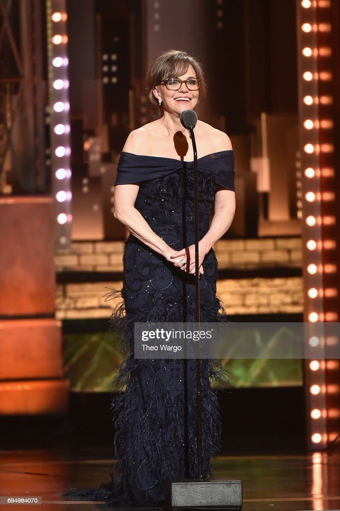 Sally Field speaks onstage during the 2017 Tony Awards at Radio City Music Hall on June 11, 2017 in New York City.