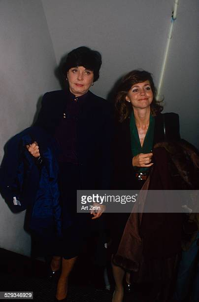 Sally Field with her mother Margaret walking up stairs circa 1970 New York