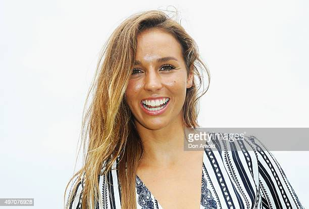 Sally Fitzgibbons arrives ahead of Polo in the City at Centennial Park on November 14 2015 in Sydney Australia