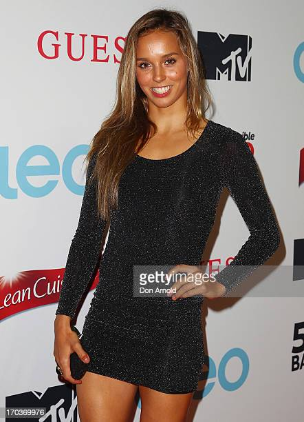 Sally Fitzgibbons arrives at the CLEO Bachelor of the Year Awards at the Beresford Hotel on June 12 2013 in Sydney Australia
