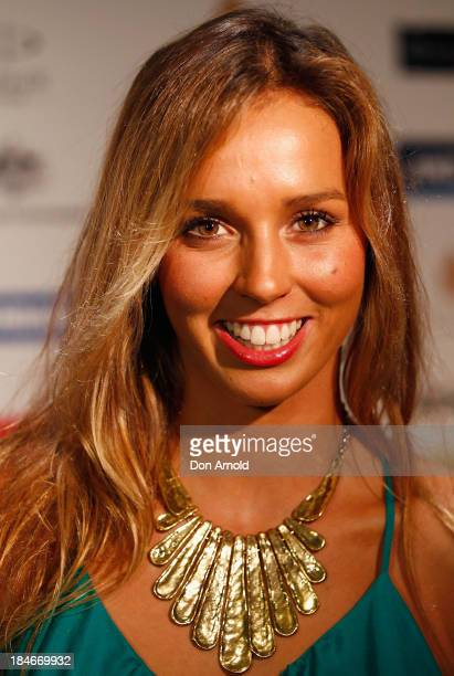 Sally Fitzgibbons arrives at the 'I Support Women In Sport' awards at The Ivy Ballroom on October 15 2013 in Sydney Australia