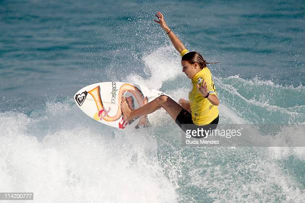 Sally Fitzgibbons in action during final of the Billabong Rio Pro at Barra da Tijuca on May 15 2011 in Rio de Janeiro Brazil