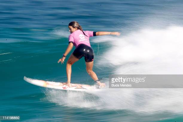 Sally Fitzgibbons in action during semifinal of the Billabong Rio Pro at Barra da Tijuca on May 15 2011 in Rio de Janeiro Brazil