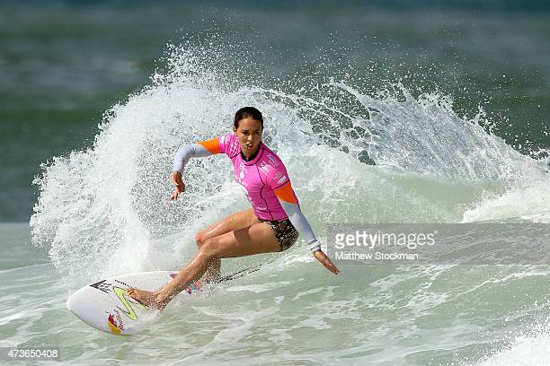 Sally Fitzgibbons of Australia surfs during the Round 3 of the Oi Rio Pro on May 16 2015 in Rio de Janeiro Brazil
