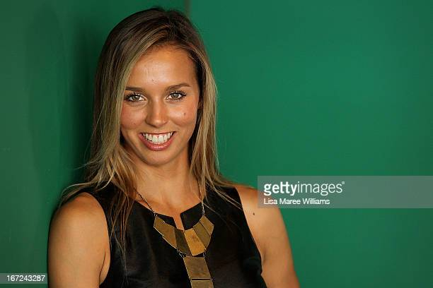 Sally Fitzgibbons poses during the COSMO 40 Years Celebration Lunch at Otto Ristorante on April 23 2013 in Sydney Australia