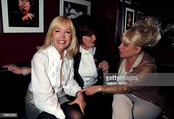 Sally Green Sharon Osbourne and Barbara Windsor attend private party at Ronnie Scott's hosted by Gary Farrow on March 15 2007 in London England