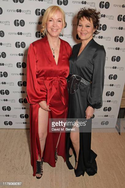 Sally Greene and Helen McCrory attend A Night At Ronnie Scotts 60th Anniversary Gala at the Royal Albert Hall on October 30 2019 in London England