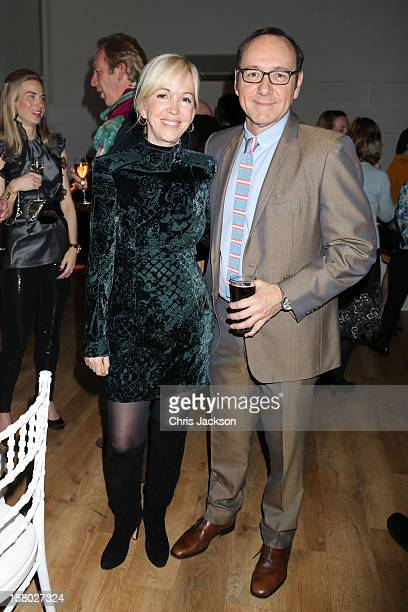Sally Greene and Kevin Spacey attend the VIP backstage dinner ahead of this year's Old Vic 24 Hour Musicals Celebrity Gala at The Old Vic Theatre on...